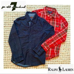 Boys Ralph Lauren & 7FAM Button Downs Sz. 8-10